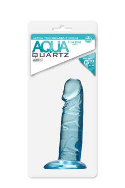 dildo QUARTZ AQUA 6INCH PVC DONG BLUE