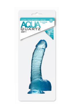 dildo QUARTZ AQUA 6.5INCH PVC DONG BLUE