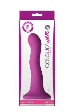 Δονητής COLOURS WAVE 6INCH DILDO PURPLE