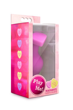 butt plug PLAY WITH ME CANDY HEART BE MINE PINK