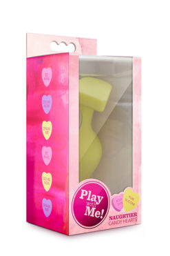 butt plug PLAY WITH ME CANDY HEART FILL ME UP YELLOW