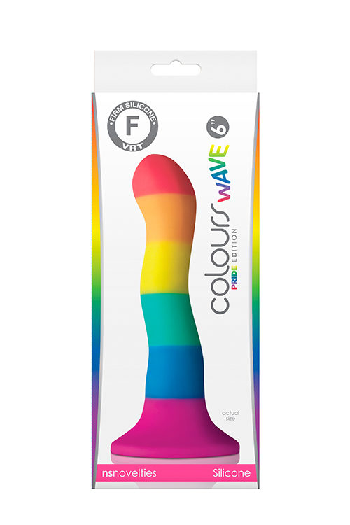 δονητής COLOURS WAVE 6INCH DILDO PRIDE EDITION