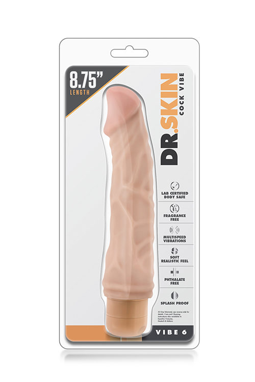 realistic-vibrator DR. SKIN COCK VIBE 6 FLESH