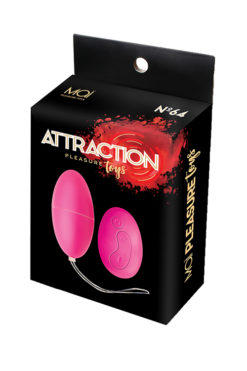 Vibrating egg with remote control and 10 adjustable vibration modes.